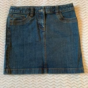 Ann Taylor Loft Petites Blue Denim Mini Skirt 2P